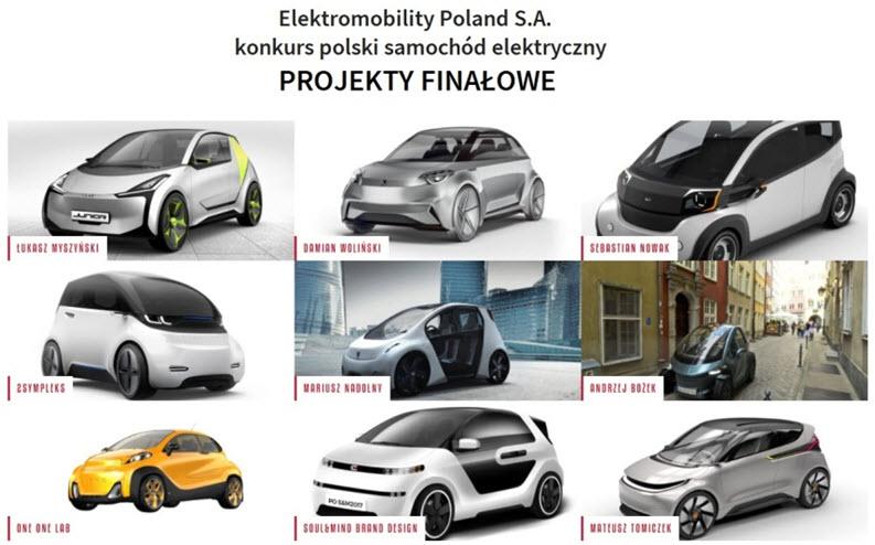 Polski samochód elektryczny - finałowe projekty konkursu Electromobility Poland
