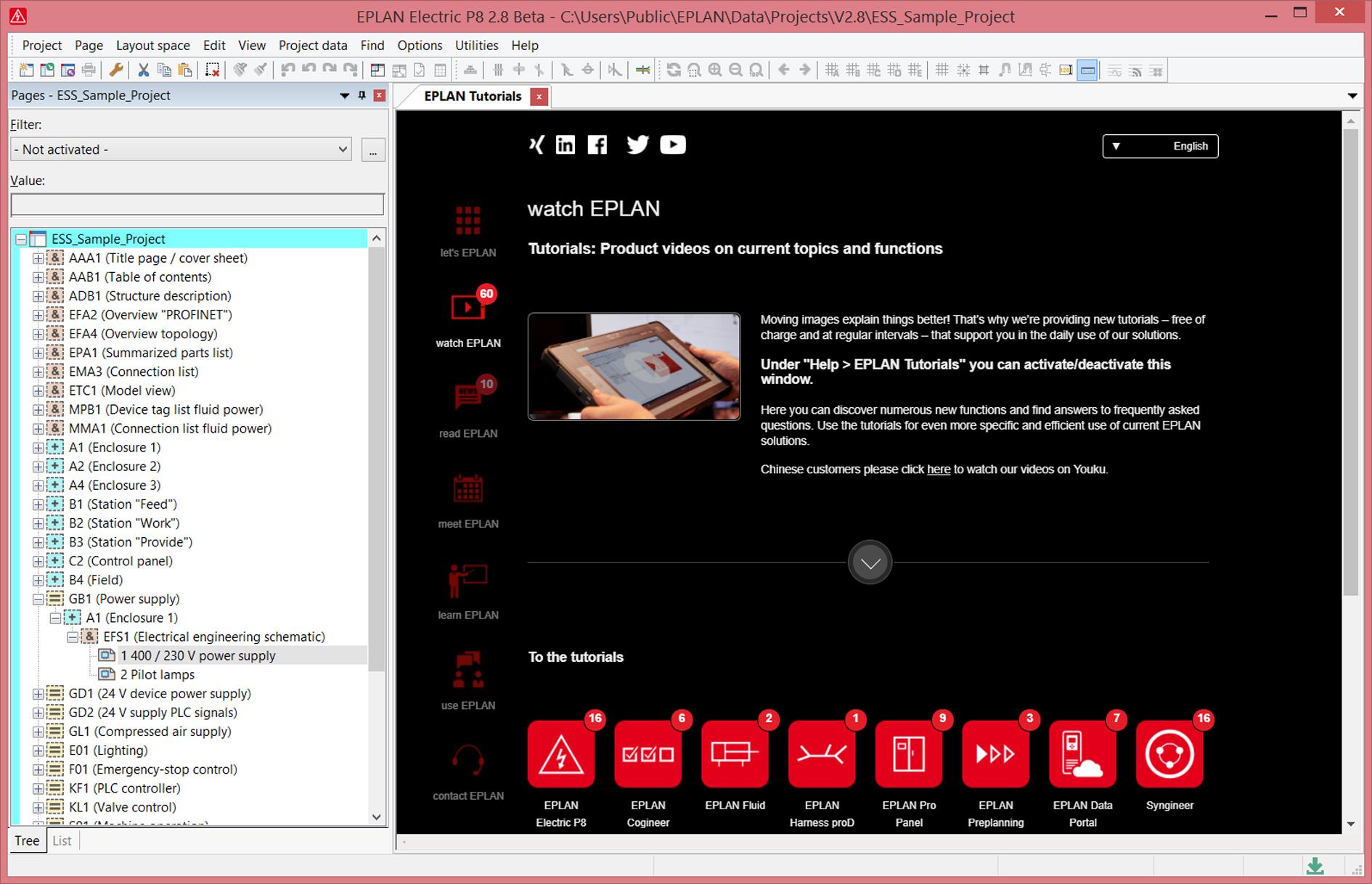 Teraz w zintegrowanym portalu można znaleźć wiadomości i innowacje dotyczące portfolio produktów EPLAN, samouczki, szczegółowe informacje na temat szkoleń i wiele więcej.