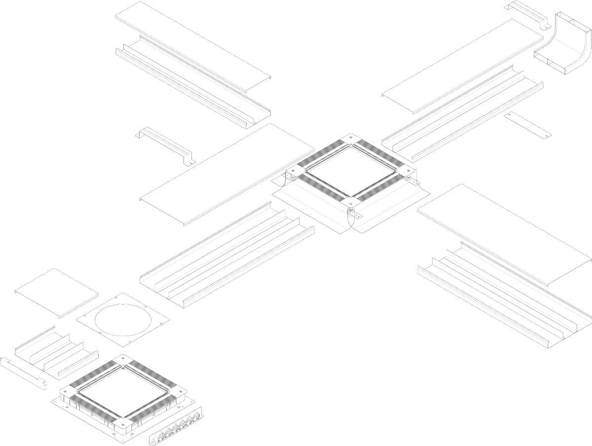 System kanałów stosowanych w wylewkach betonowych tehalit.UK