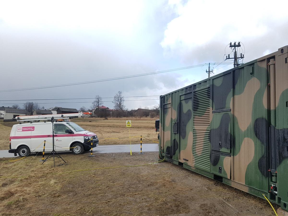 TAURON i wojsko testują zasilanie awaryjne