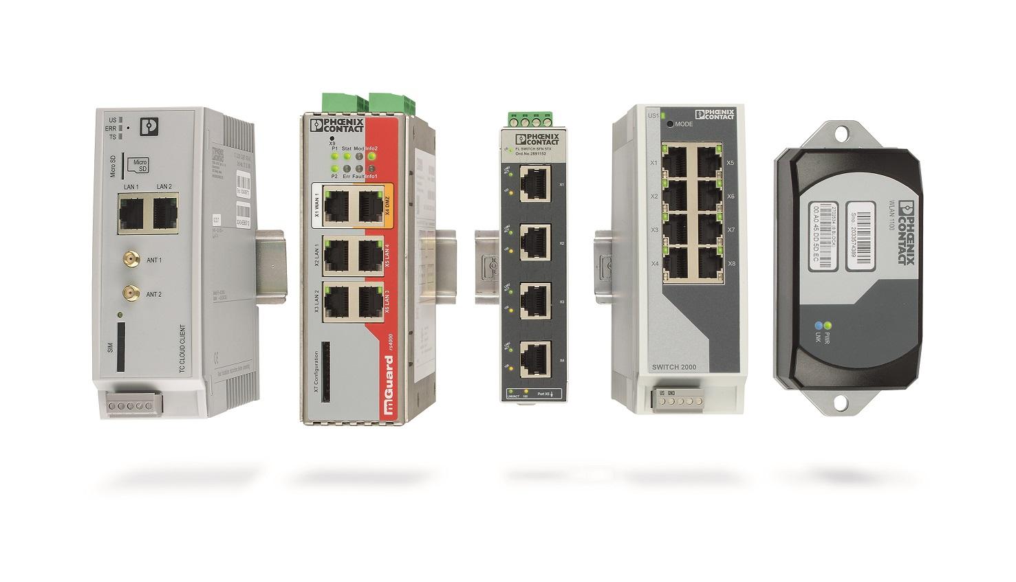 Bogata oferta produktów Phoenix Contact obejmuje wszystkie komponenty potrzebne do utworzenia sieci maszynowej.