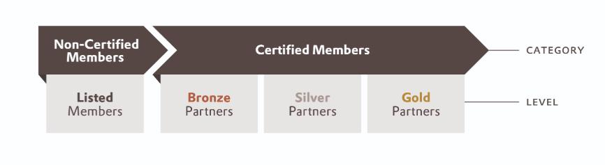 Nowa struktura składa się z dwóch głównych kategorii i czterech podrzędnych poziomów członkostwa.