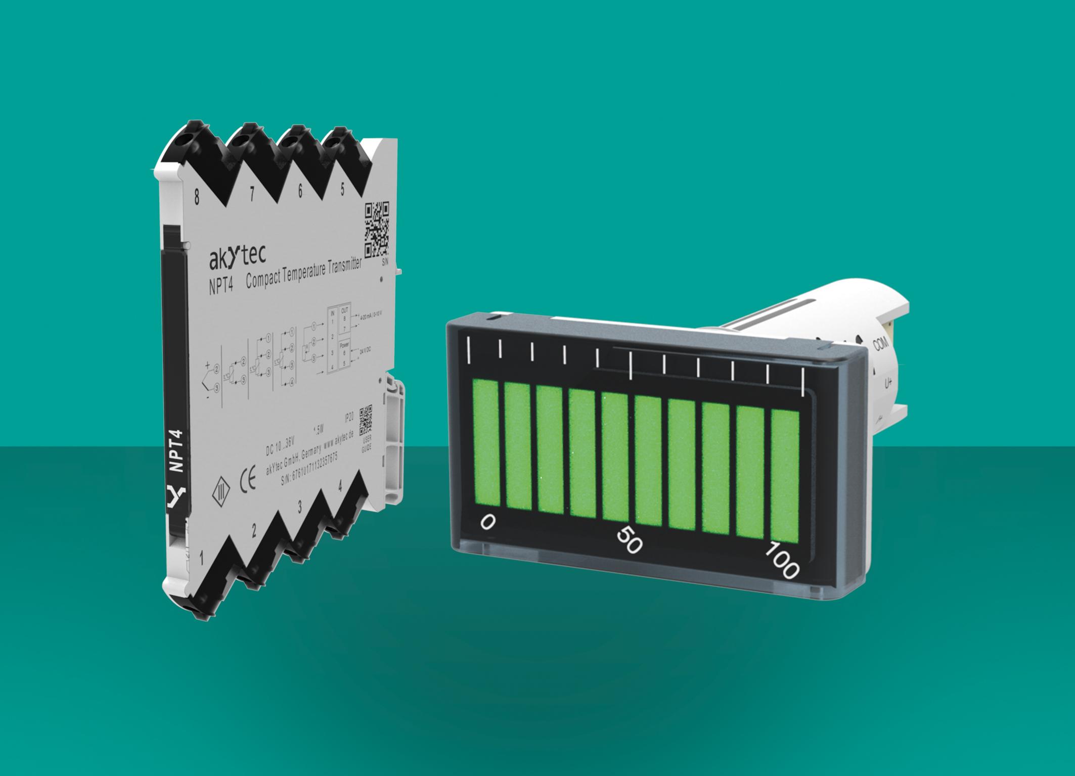 akYtec NPT4 nadajniki ITP15 Wyświetlacze