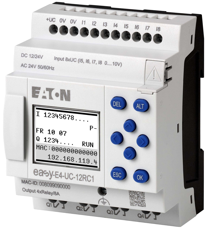 Przekaźnik programowalny easyE4 zapewnia użytkownikom większą elastyczność dzięki nawet 11 rozszerzeniom na jednostkę podstawową, czterem językom programowania i nowoczesnym opcjom komunikacji.