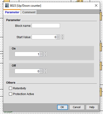 Rysunek 3. Okno właściwości bloku licznika Up/Down Counter