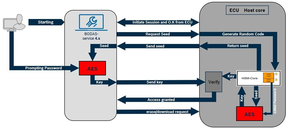 Seria 40 oferuje nowe możliwości, szczególnie w zakresie bezpieczeństwa funkcjonalnego, integralności danych, elastyczności wejść/wyjść oraz interfejsów komunikacyjnych. Jest to niezawodne rozwiązanie do systemów sterowania ładowarek teleskopowych, zabudów podwozia, maszyn rolniczych, traktorów, pojazdów komunalnych oraz maszyn budowlanych.  Korzyści z zastosowania nowego sterownika: Efektywny sterownik na bazie wielordzeniowego procesora SPC58, 200 MHz Spełnia wymogi bezpieczeństwa funkcjonalnego wg. norm EN ISO 13849 oraz ISO 25119 Wyjścia proporcjonalne i przełączające zapewniają bezpieczne sterowanie siłownikami, możliwość swobodnego programowania Zabezpieczenie przed nieautoryzowanym dostępem Wielofunkcyjne wejścia, dodatkowo interfejs SENT SAE J2716 Wysoki standard jakości Bosch Automotive Electronics  Nowy sterownik z wielordzeniowym procesorem 32-bitowym można programować w języku C wysokiego poziomu lub w językach IEC 61131-3. Równoległa praca dwóch rdzeni procesora wpływa pozytywnie na bezpieczeństwo i pewność działania sterownika oraz zwiększa pokrycie diagnostyczne poprzez przetwarzanie programu redundantnego (rys.1). Oprogramowanie podstawowe jest konfigurowalne w chmurze. Interfejs programistyczny (API) zapewnia łatwy dostęp zarówno do wejść i wyjść,  a także dla interfejsów komunikacyjnych oraz wszelkich zasobów diagnostycznych i systemowych. Firma Bosch Rexroth oferuje ponadto możliwość wdrażania aplikacji specyficznych dla klienta.   Rys. 1 Funkcja Lockstep, jeden program jest wykonywany w dwóch rdzeniach CPU a wyniki są porównywane Sterownik spełnia wysokie wymagania w zakresie bezpieczeństwa funkcjonalnego i integralności danych. Funkcje bezpieczeństwa do poziomu wydajności PL d mogą być wdrażane zgodnie z normą zharmonizowaną EN ISO 13849. Nowością w serii 40 jest uzyskanie poziomu AgPL d według normy ISO 25119, obowiązującej dla maszyn rolniczych i pojazdów komunalnych. Wyjścia proporcjonalne i przełączające zapewniają bezpieczne sterowanie odbi