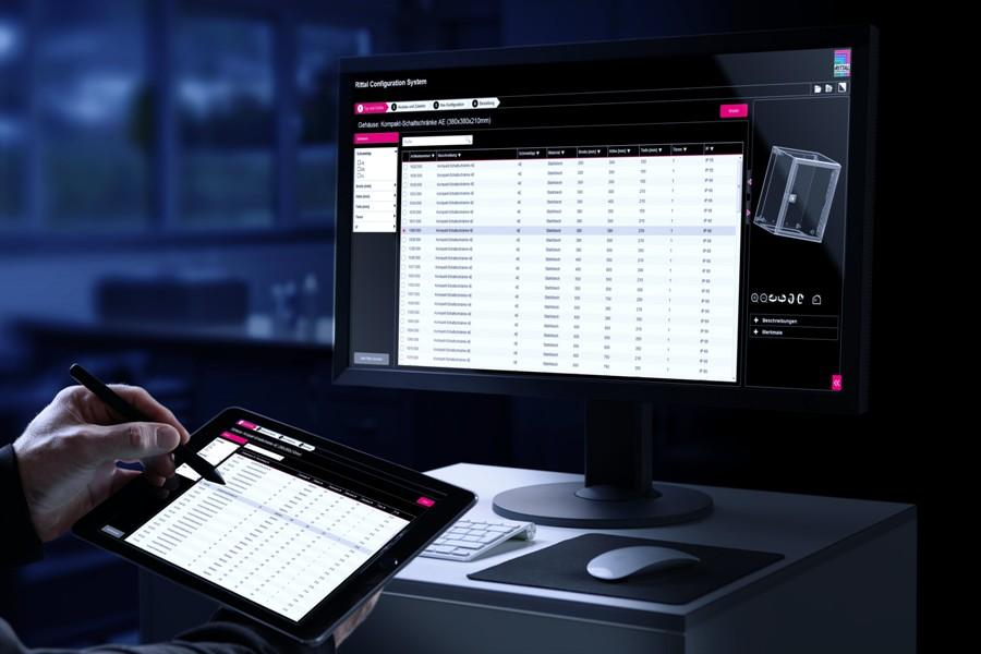 Prostota: wysokiej jakości dane 3D dla spójnych, cyfrowych procesów są łatwo dostępne na stronie internetowej Rittal lub przez Eplan Data Portal.