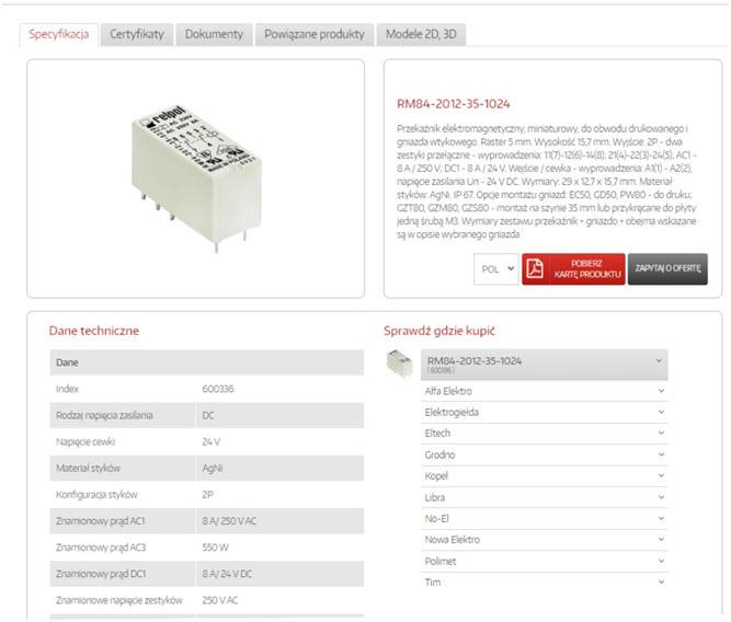 Radar produktów Relpol: Przekaźnik RM84