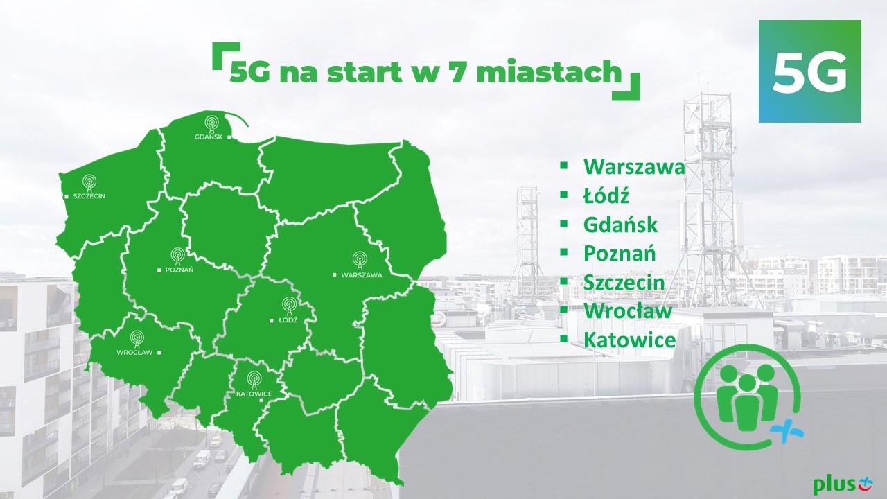 5G w polskich miastach