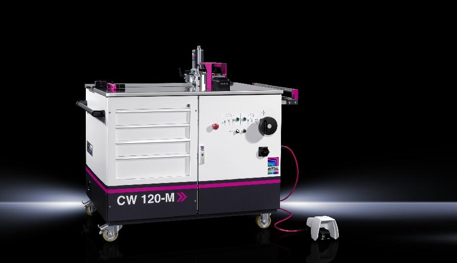 stanowisko do obróbki szyn miedzianych - Rittal CW 120-M