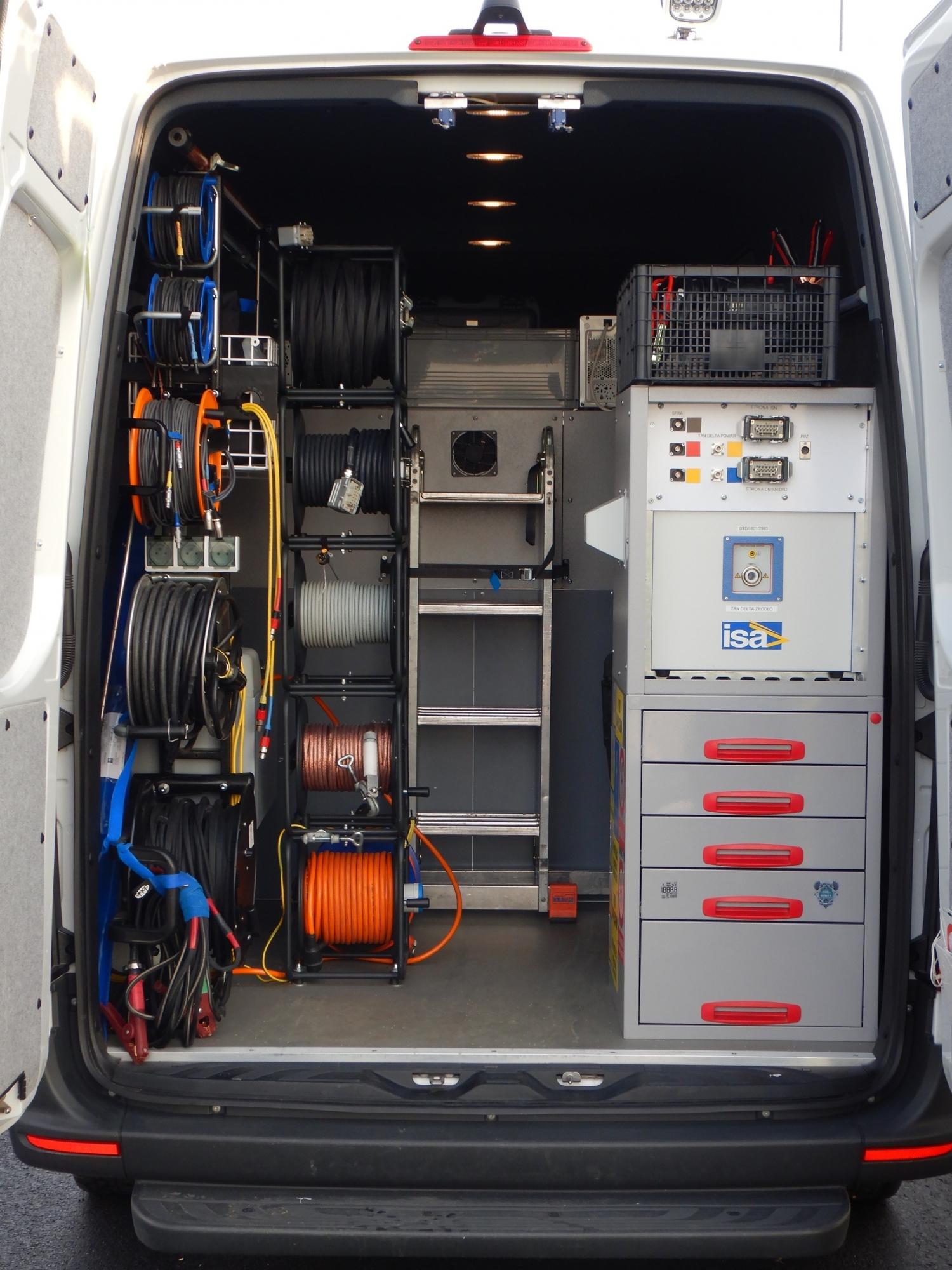 Na specjalnie dostosowanych samochodach znajduje się ustandaryzowana aparatura pomiarowa