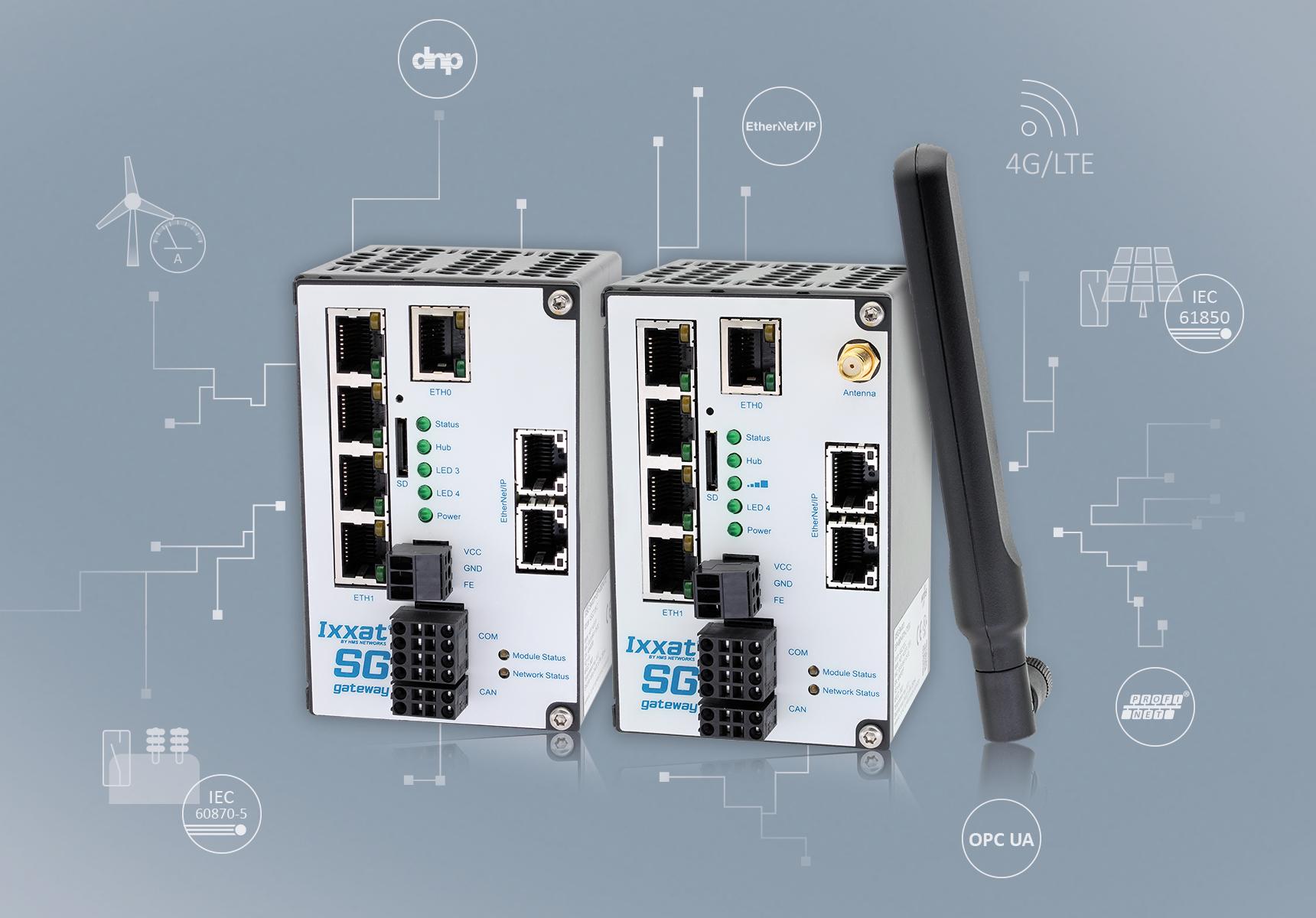 Nowe bramki Ixxat Smart Grid zgodne z IEC 61850 i IEC 60870 oraz z obsługą LTE