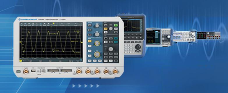 W zestawach aparatury kontrolno-pomiarowej Rohde & Schwarz znajdują się m.in. wysokiej jakości oscyloskopy, analizatory mocy i widma oraz DC zasilacze