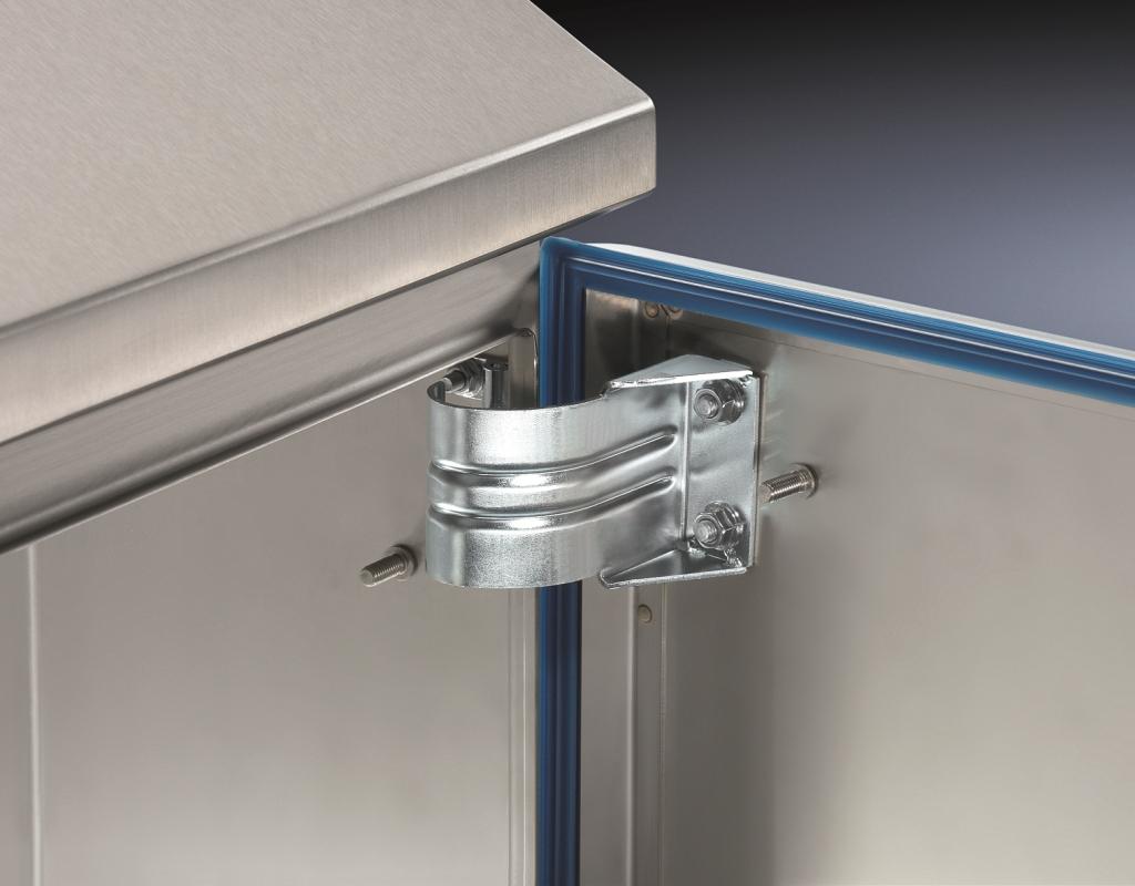 Uszczelnienie szafy obudowy Rittal Hygienic Design ze stali nierdzewnej dedykowane produkcji spożywczej