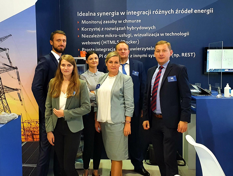 Obecny zespół COPA-DATA Polska podczas targów Energetab 2020 w Bielsku-Białej.
