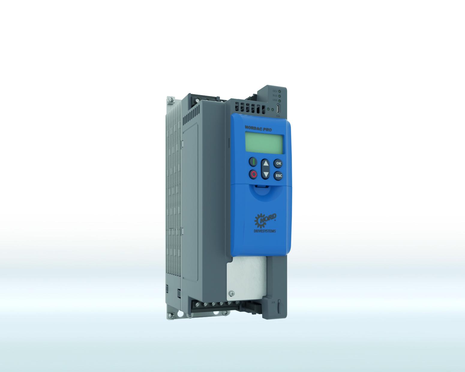 Jednym z wyróżników NORDAC PRO SK 550P jest zintegrowany multi-chip dla Ethernetu przemysłowego, który umożliwia wykorzystanie najważniejszych standardów Ethernetu czasu rzeczywistego za pośrednictwem pojedynczego interfejsu