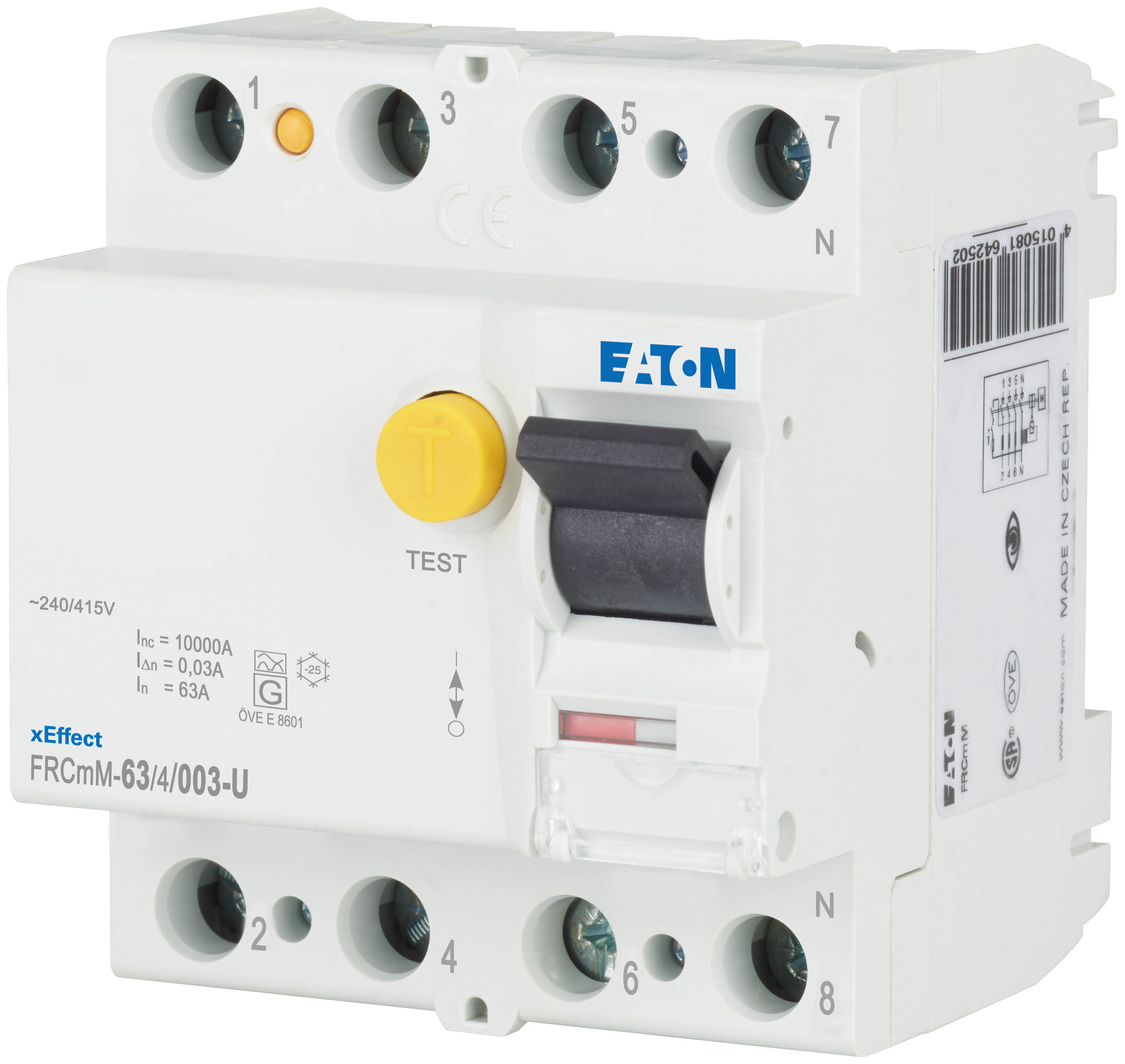 Wyłącznik różnicowoprądowy Eaton serii FRCmM