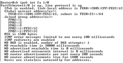Szczegółowe informacje o interfejsie fastethernet 1/0