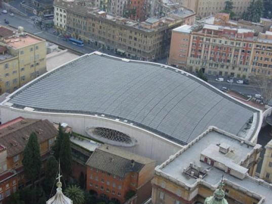 Instalacja PV na dachu Auli Pawła VI