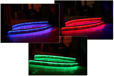 Oświetlenie schodów - taśma LED RGB