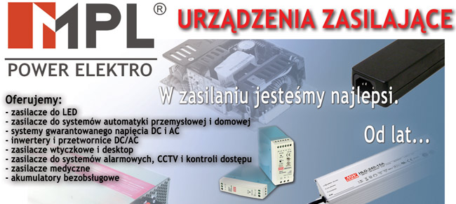 Firma MPL POWER ELEKTRO jest jedynym autoryzowanym dystrybutorem produktów MeanWell w Polsce - światowego potentata branży zasilania. Rozwój tej marki w Polsce jest sukcesem zarówno naszym jak i naszych Klientów. Dynamika wzrostu sprzedaży świadczy o jakości, konkurencyjności i szerokiej ofercie (ponad 2000 typów zasilaczy i przetwornic), która pokrywa około 80% potrzeb rynku.