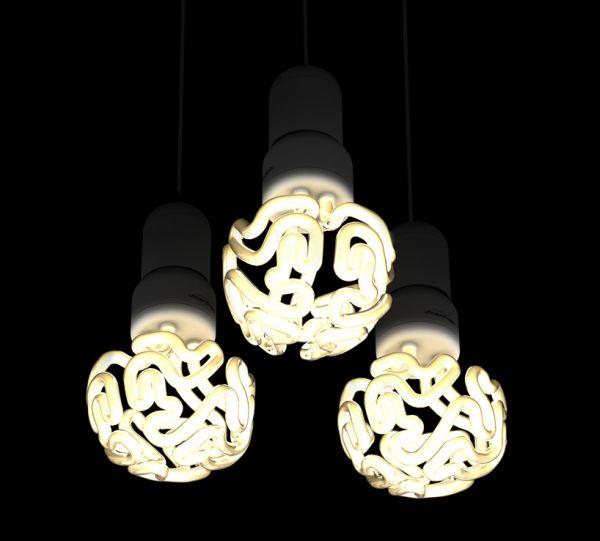 Białoruski projektant proponuje kompaktową świetlówkę w kształcie ludzkiego mózgu