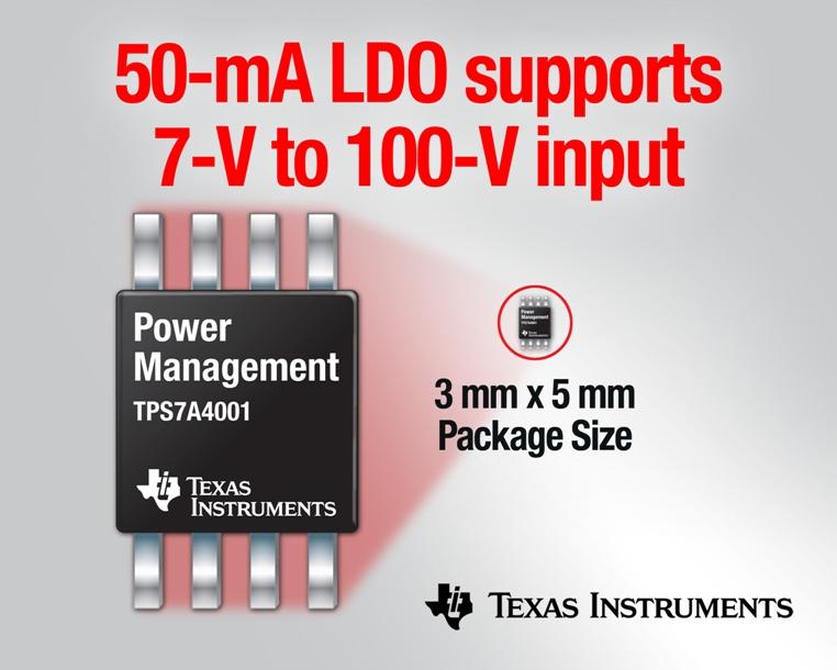 Regulator napięcia LDO 50 mA, 100 V TPS7A4001