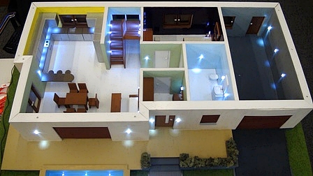 Model domu wyposażonego w system KNX.