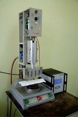 Przykład zgrzewarki ultradźwiękowej