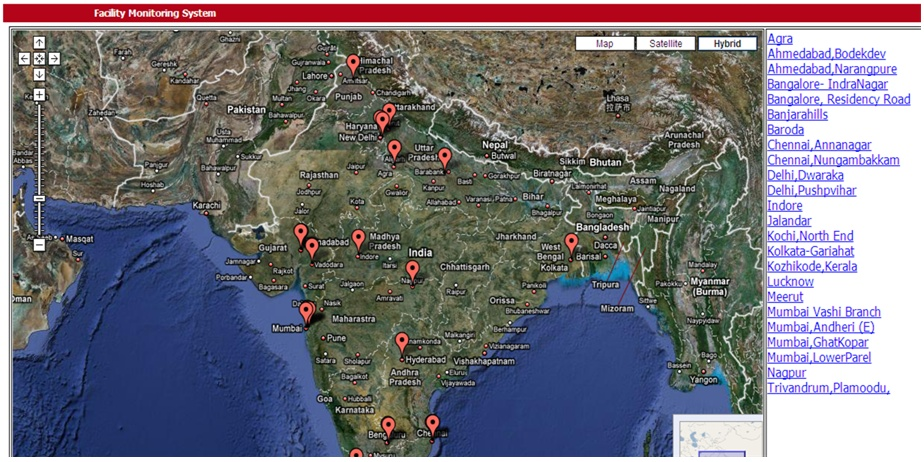 We integrated our LabVIEW software solution with ASP.NET, allowing our customer to monitor and control facilities in different regions of India via Google Maps.
