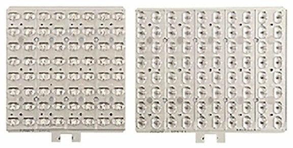 Fot. 3. Przykładowe panele LED z układami soczewkowymi wielowarstwowymi: