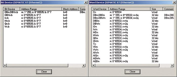 Budowanie listy zmiennych i ekranów operatorskich