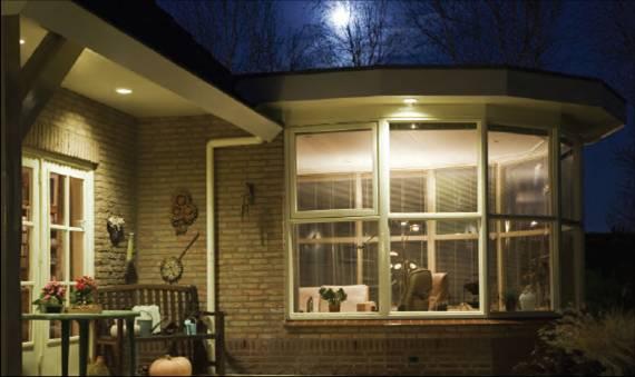 oświetlenie elewacyjne domu