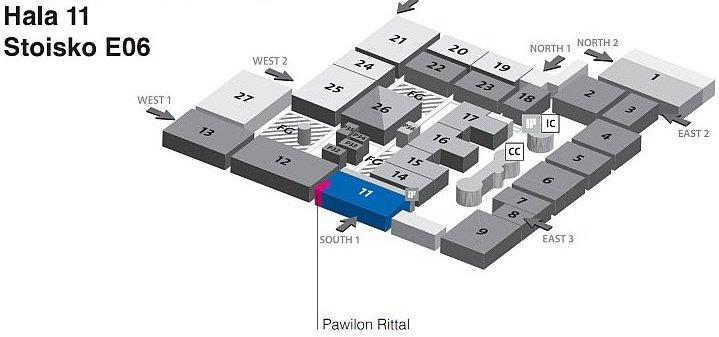 lokalizacja stoiska Rittal na CeBIT 2012
