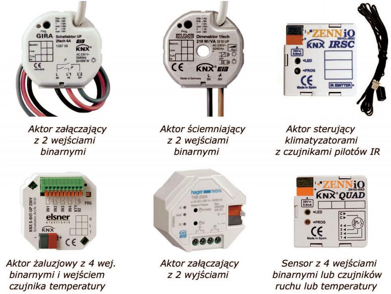 Rys. 3. Moduły KNX/EIB do montażu w puszkach instalacyjnych