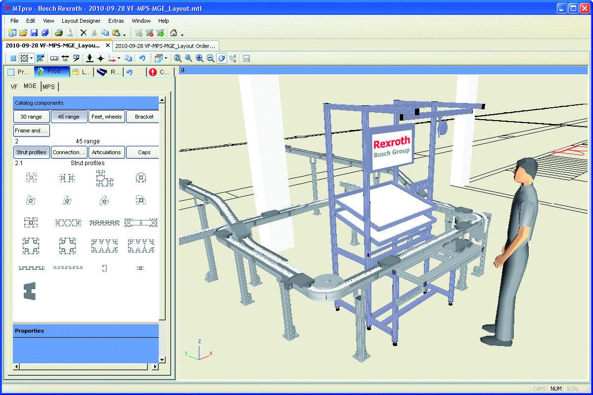 Oprogramowanie do wspomagania projektowania MTpro light firmy Bosch Rexroth