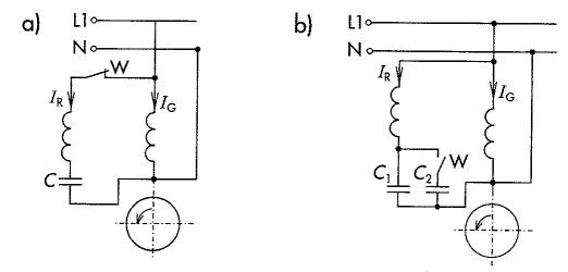 Jednofazowy silnik indukcyjny z kondensatorowym uzwojeniem rozruchowym (pojedynczy i podwójny kondensator)