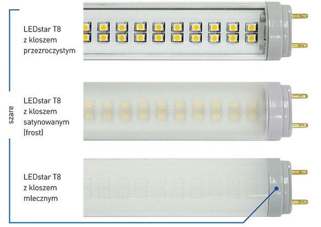 Lampy LEDstar T8 - zasilanie jednostronne: