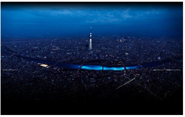 LED-y Panasonic rozświetliły rzekę Sumida w Tokio