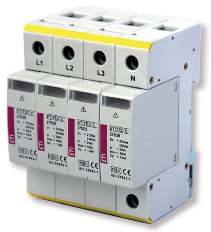 Ogranicznik przepięć Typ2 – ETITEC C 275/20 4p