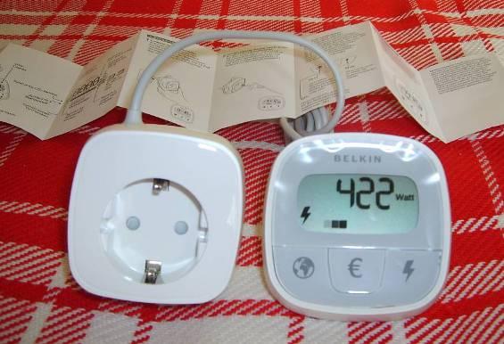 Miernik zużycia energii gniazdkowy + instrukcja obsługi w języku niemieckim