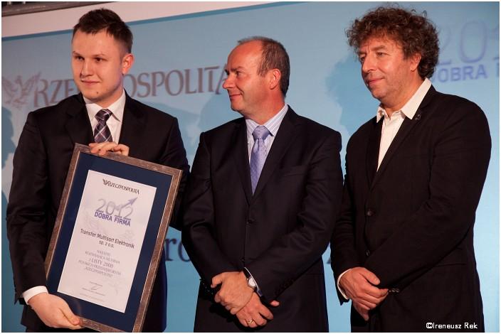 Nagrodę dla TME w imieniu Zarządu spółki odebrał Andrzej Kuczyński