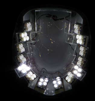 Rys. 1. Widok modułów świecących opraw z diodami elektroluminescencyjnymi