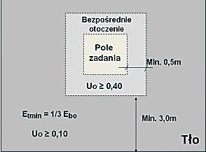 Szkic pola zadania wzrokowego, bezpośredniego otoczenia i tła