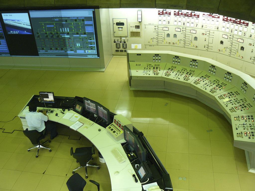 Rys. 5. Sala dyspozycji mocy w elektrowni wodnej Itaipu na rzece Parana (Brazylia)