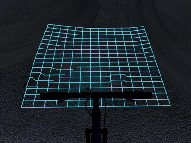 Projektor LED Lumigrids dla rowerzystów