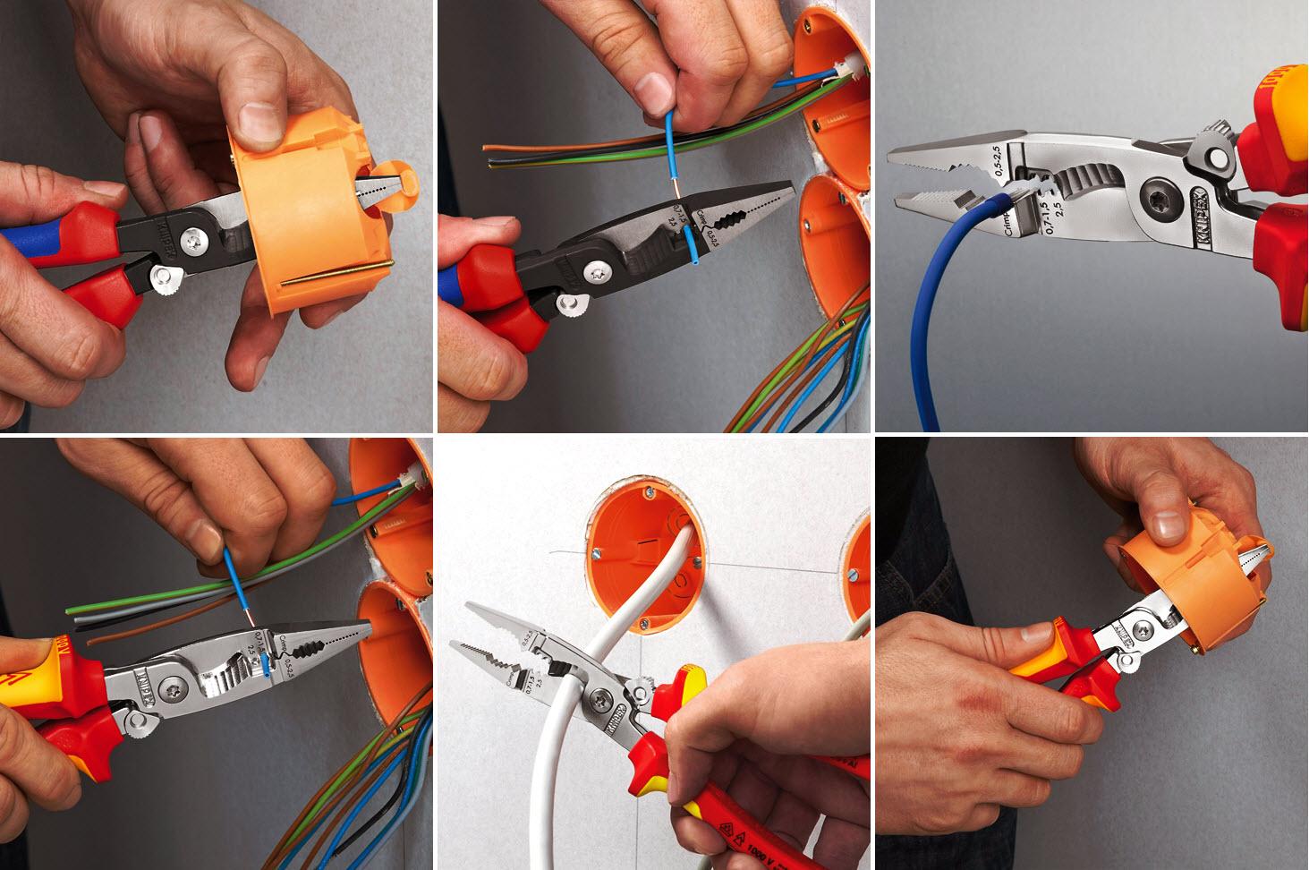 Szczypce do prac elektroinstalacyjnych KNIPEX
