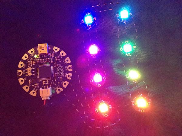 Zestaw FLORA i diody RGB, fot. Adafruit