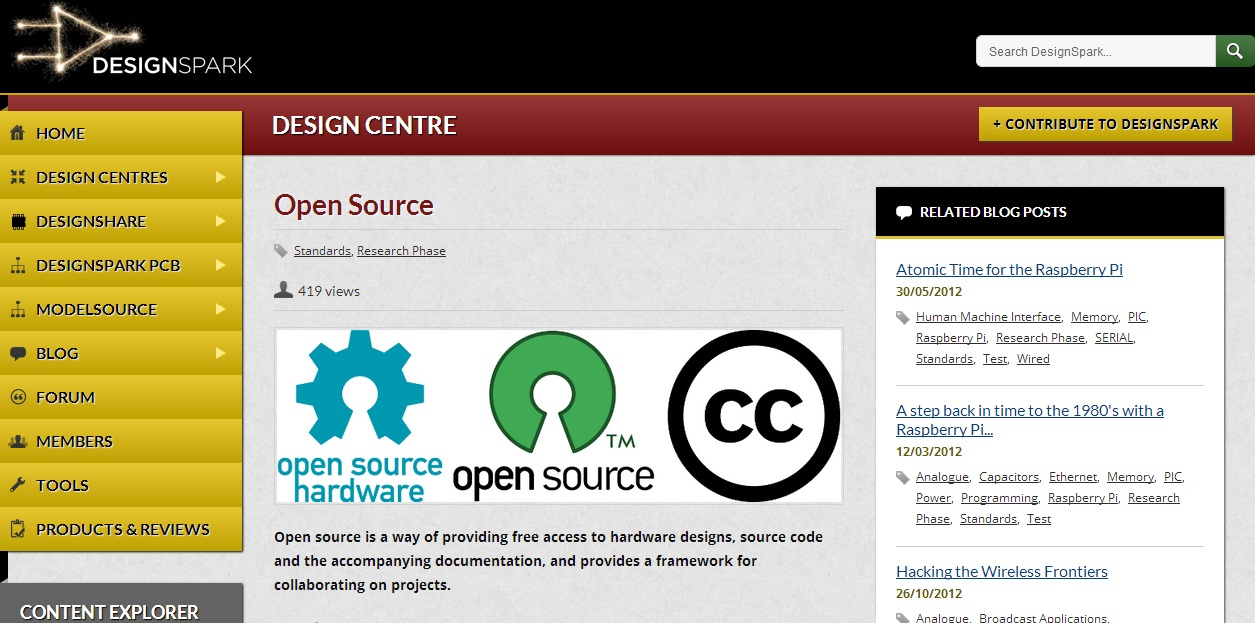 Open Source Design Centre jako centrum informacji dla inżynierów tworzących projekty przy użyciu podzespołów typu open-source