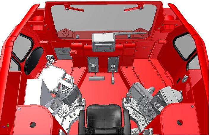 Rys. 4. Wnętrze kabiny operatora